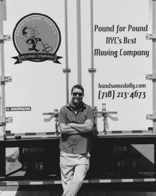 "Owner / Operator, Brad Saville, with his 2nd truck, ""Pauline"""